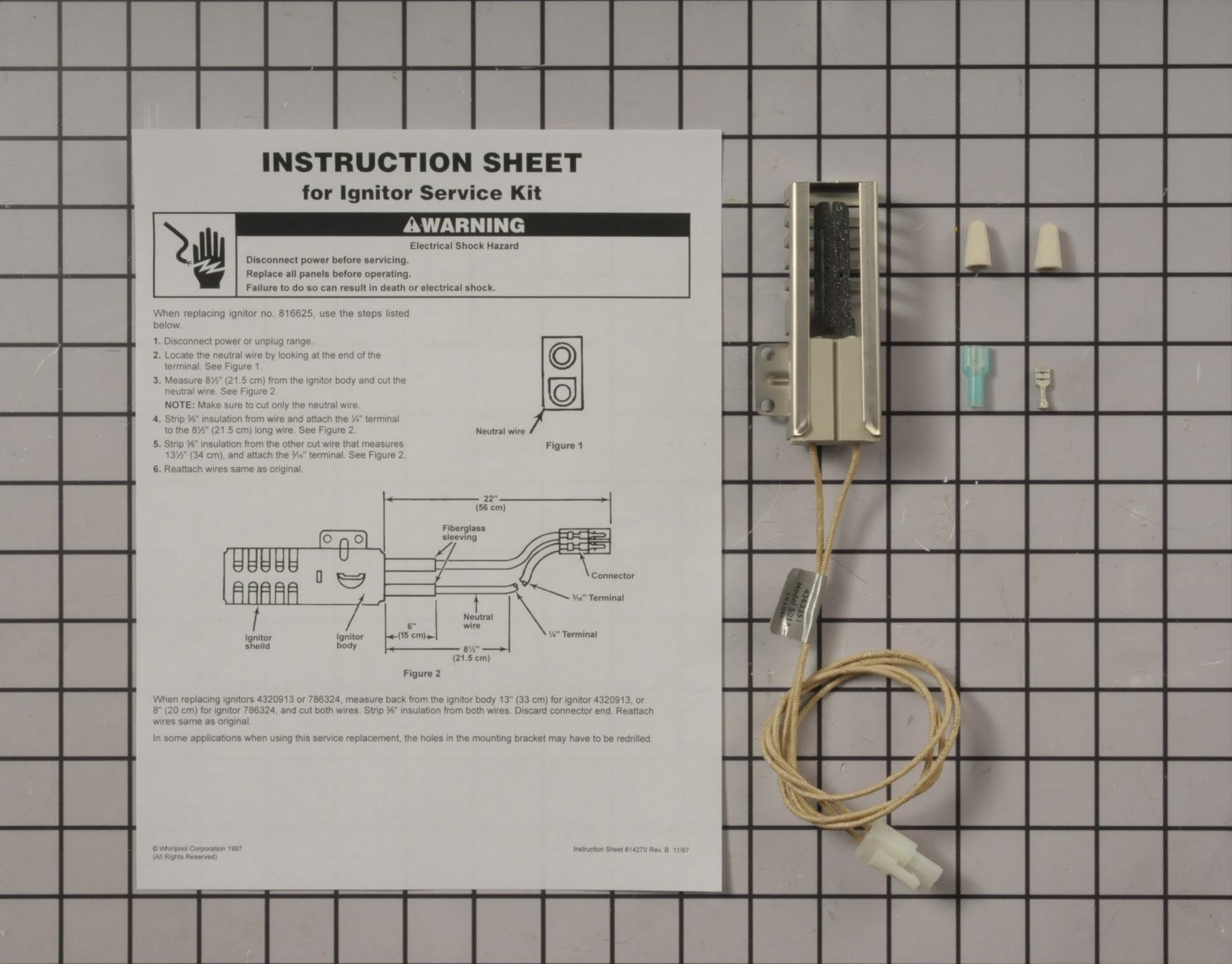 Whirlpool Range/Stove/Oven Part # 814269 - Igniter