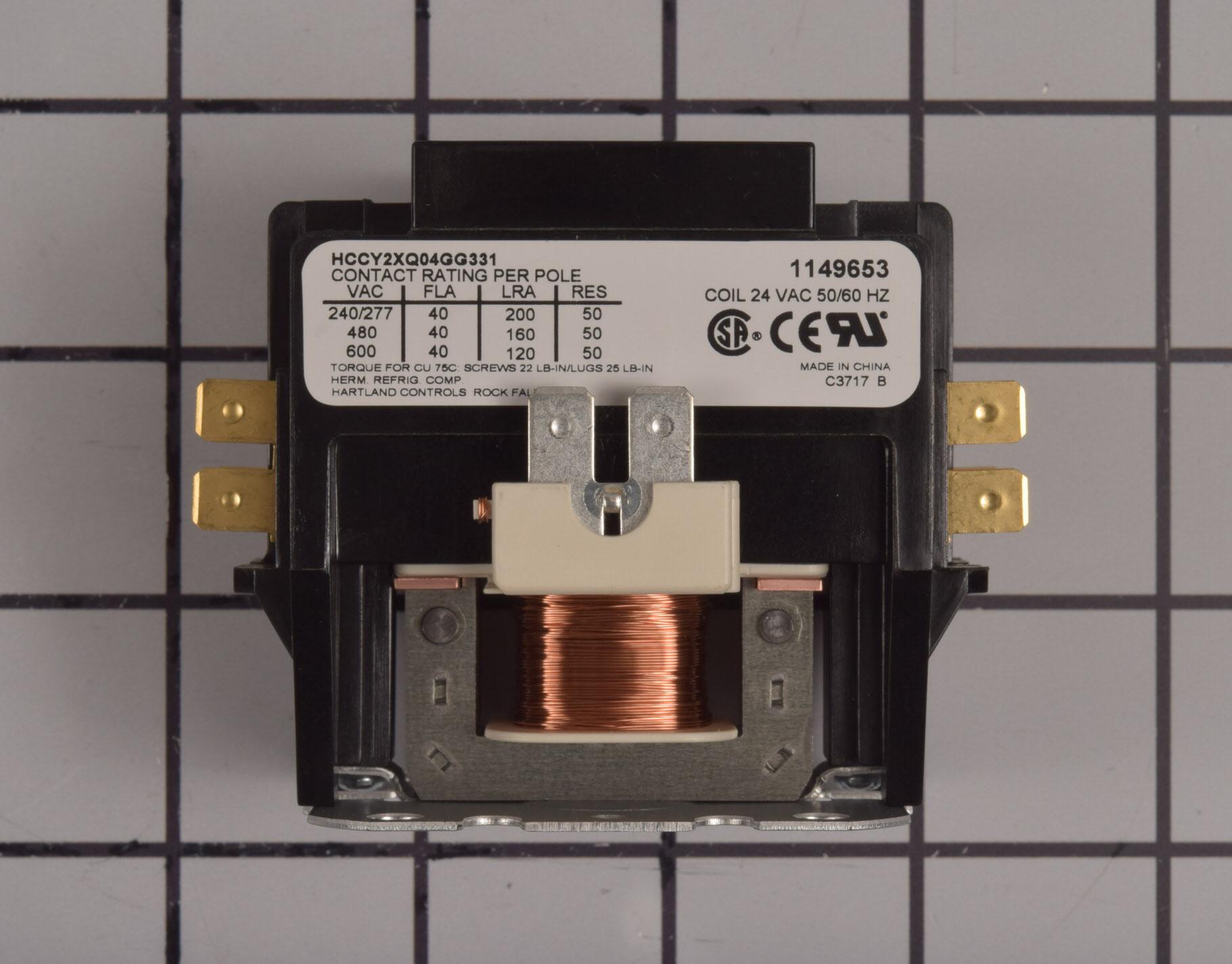 Kenmore Central Air Conditioner Part # 1149653 - Contactor