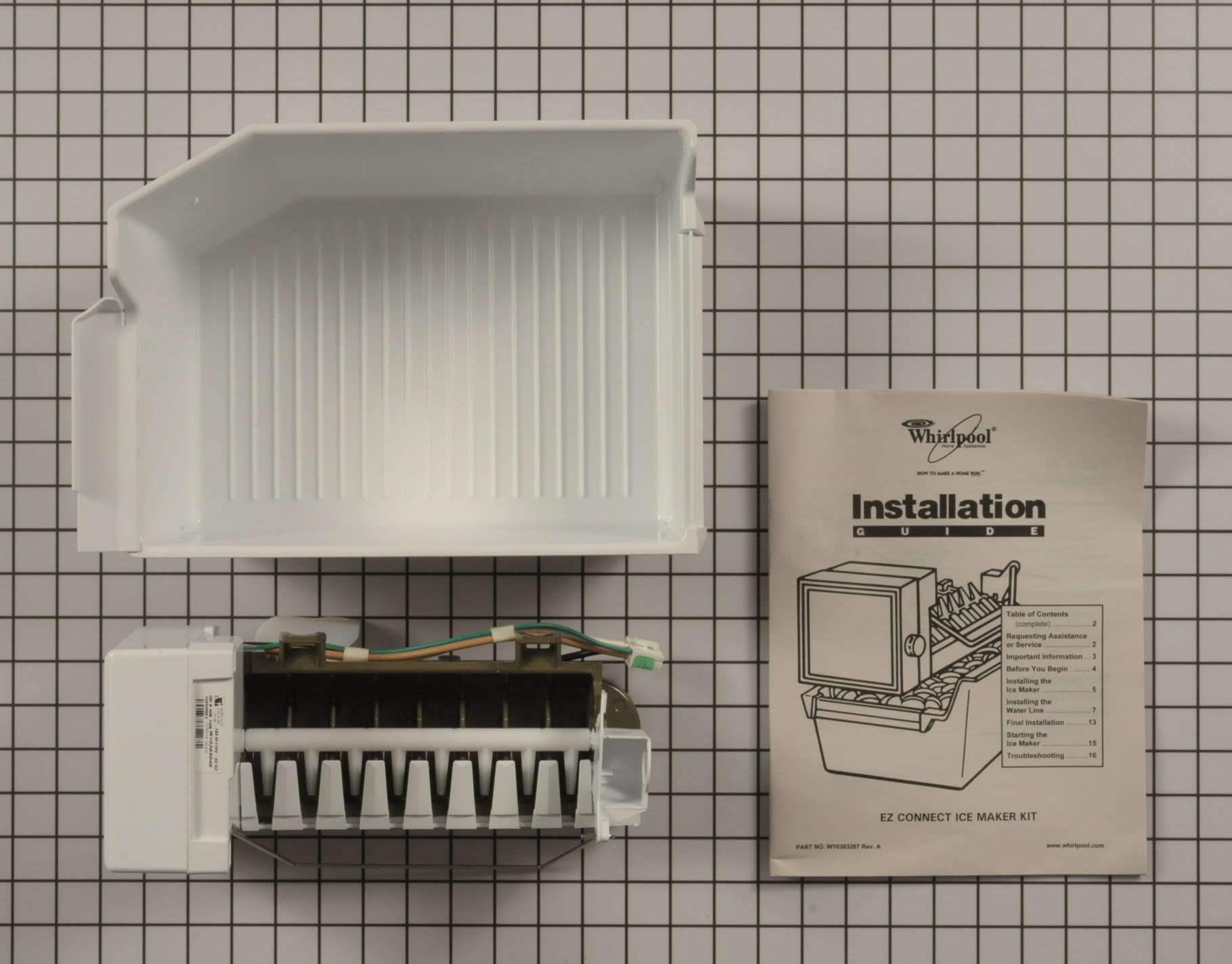 Maytag Refrigerator Part # WPW10715709 - Ice Maker Assembly