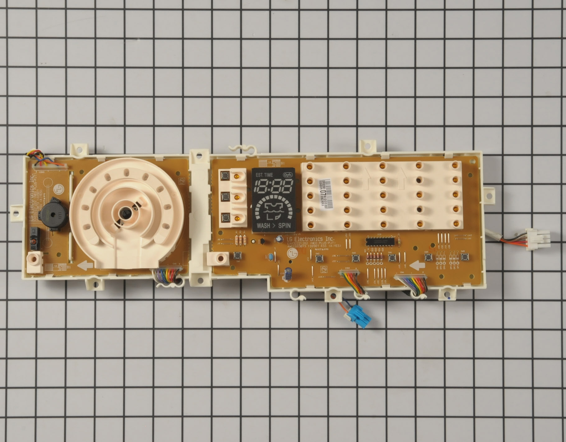 LG Washing Machine Part # EBR32268107 - User Control and Display Board