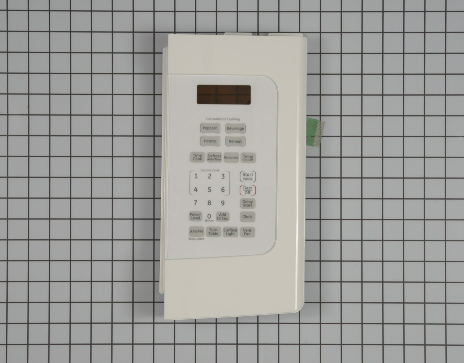 GE Microwave Part # WB07X11006 - Touchpad and Control Panel