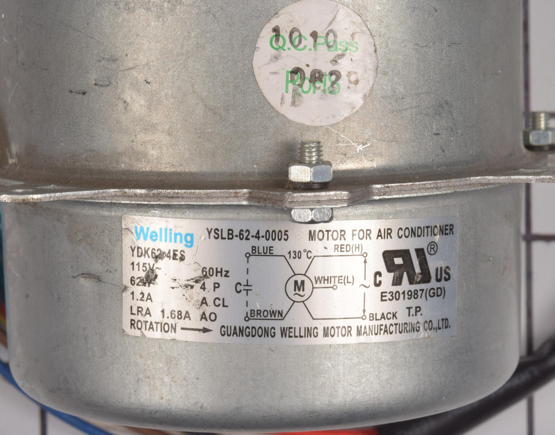 Frigidaire Air Conditioner Part # 5304479264 - Fan Motor