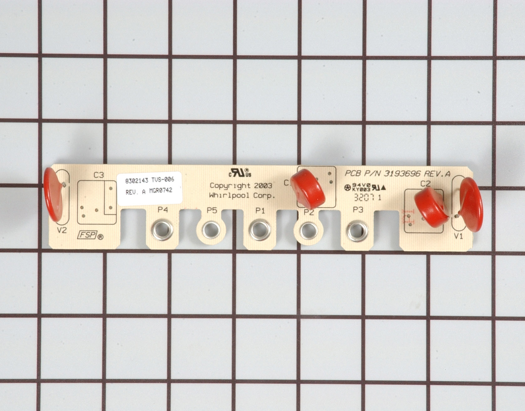 Whirlpool Range/Stove/Oven Part # WP8302143 - Noise Filter