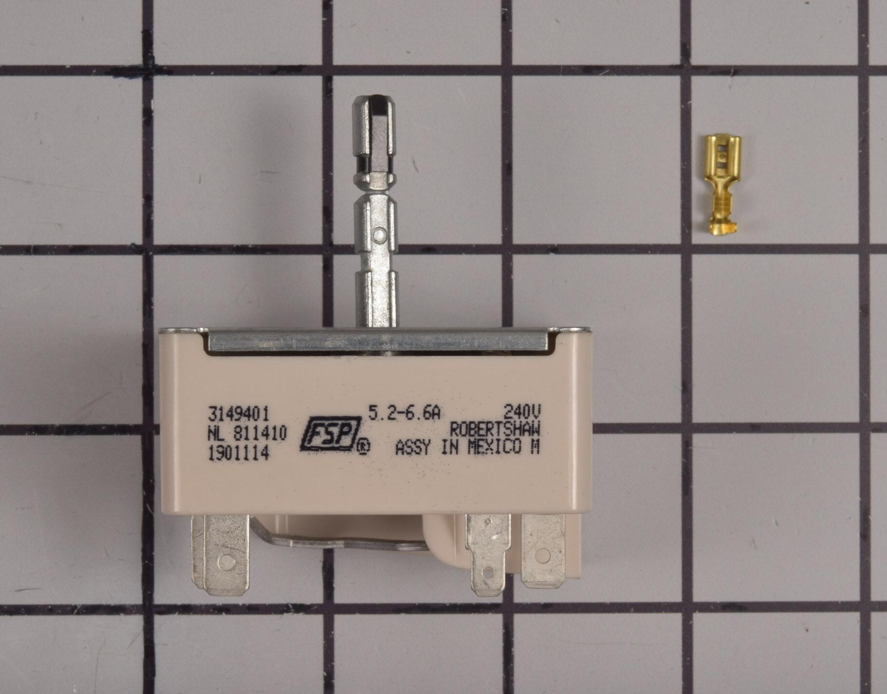 Amana Range/Stove/Oven Part # WP3149401 - Surface Element Switch