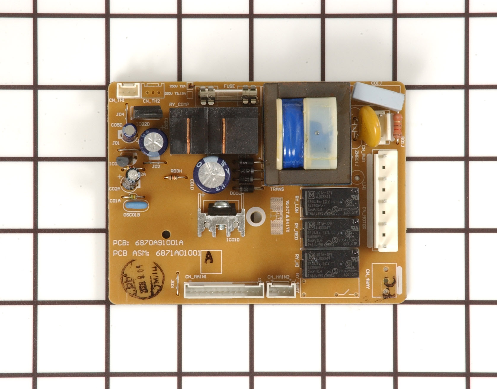 Kenmore Air Conditioner Part # 6871A01001A - Main Control Board