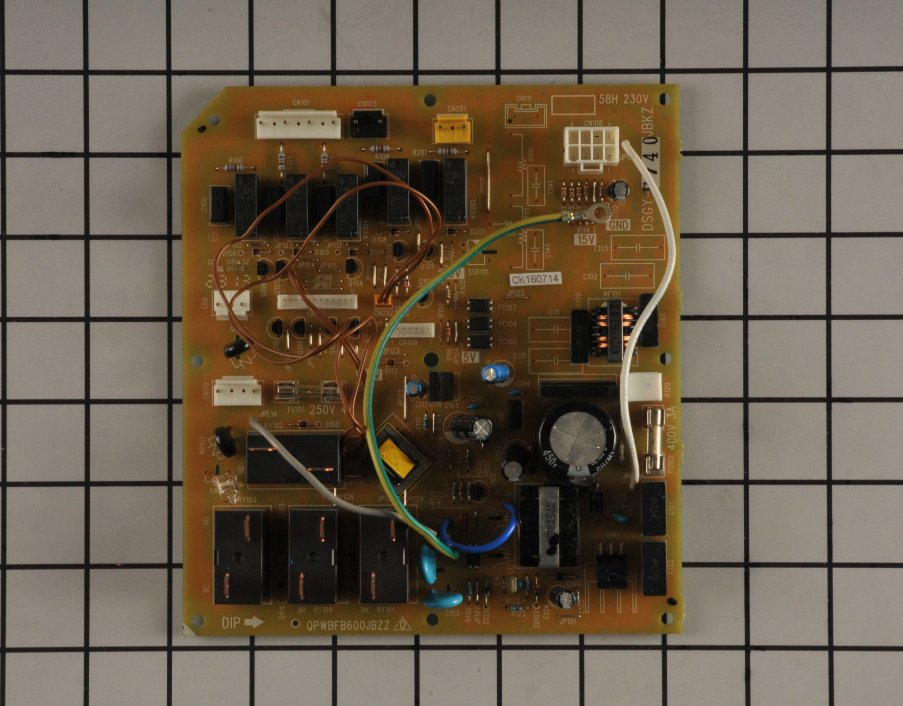GE Air Conditioner Part # WP26X10042 - Relay Board