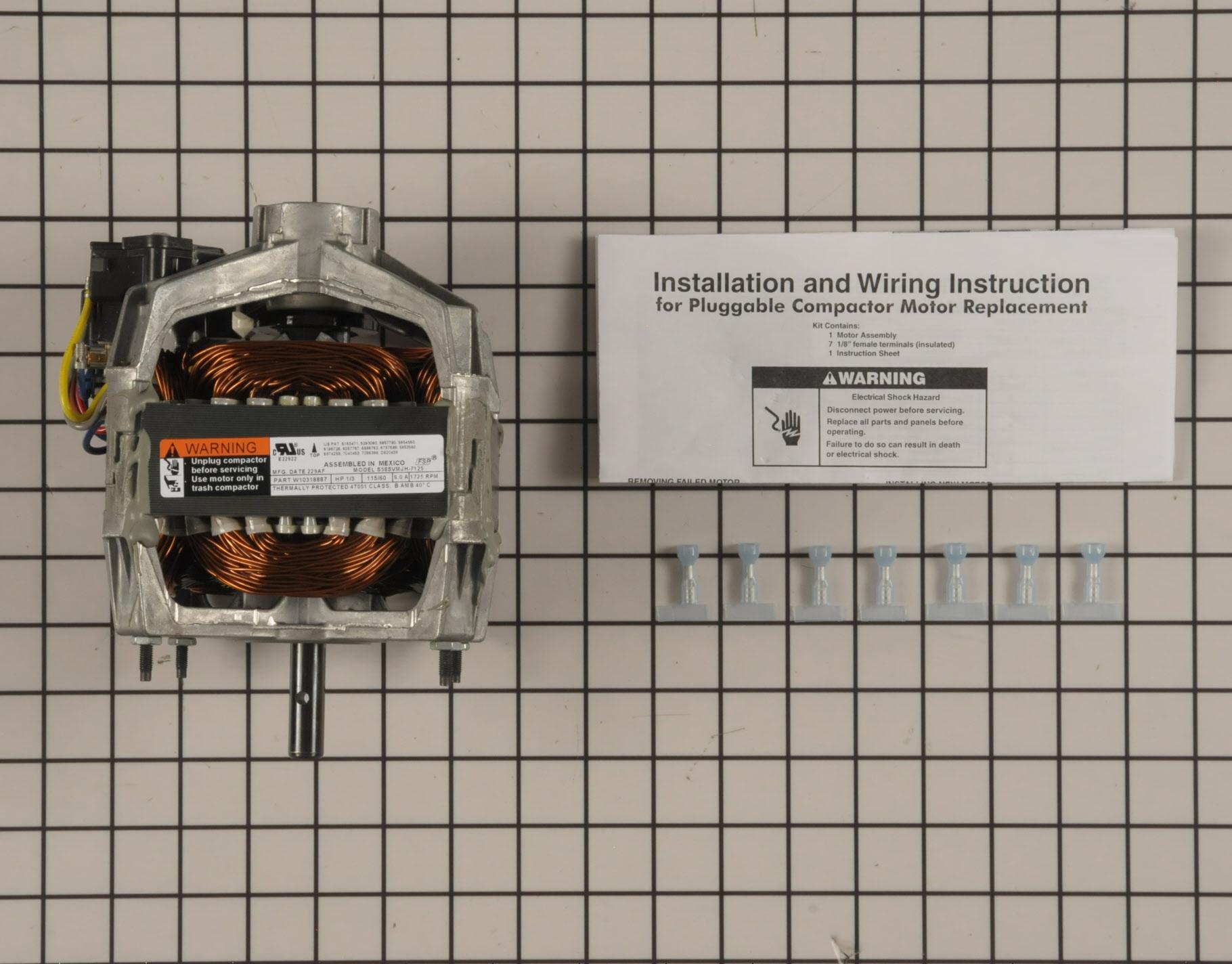 Maytag Trash Compactor Part # W10439651 - Drive Motor
