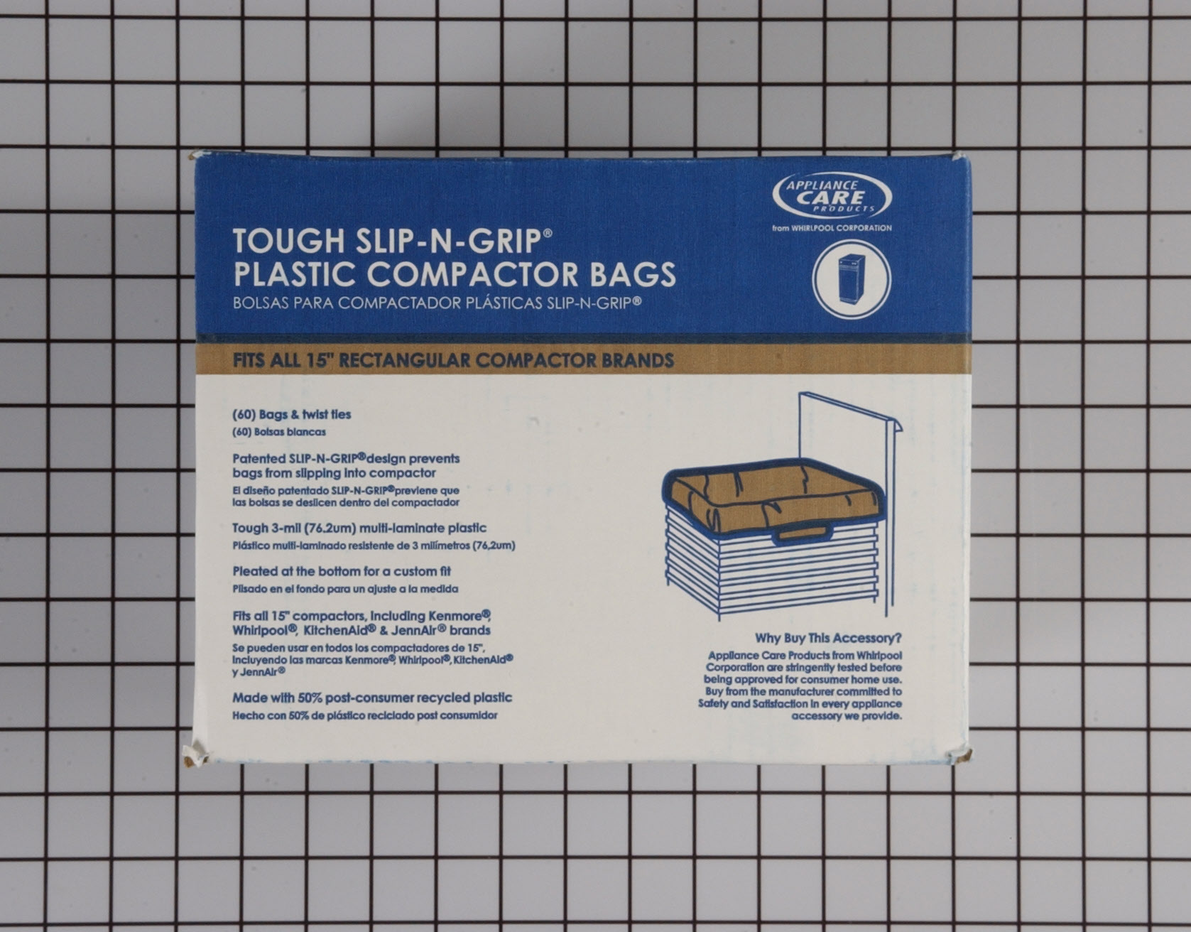 Whirlpool Trash Compactor Part # W10165294RB - Trash Compactor Bags