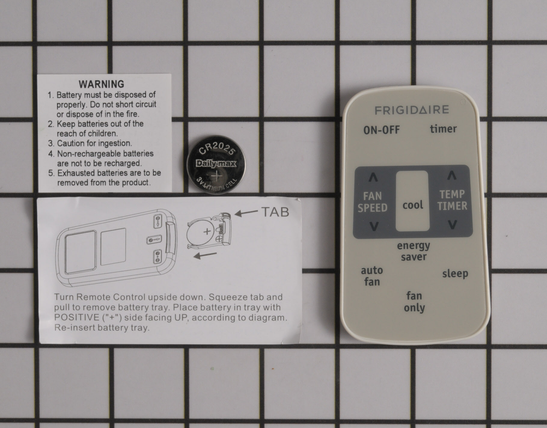 Frigidaire Air Conditioner Part # 5304487535 - Remote Control