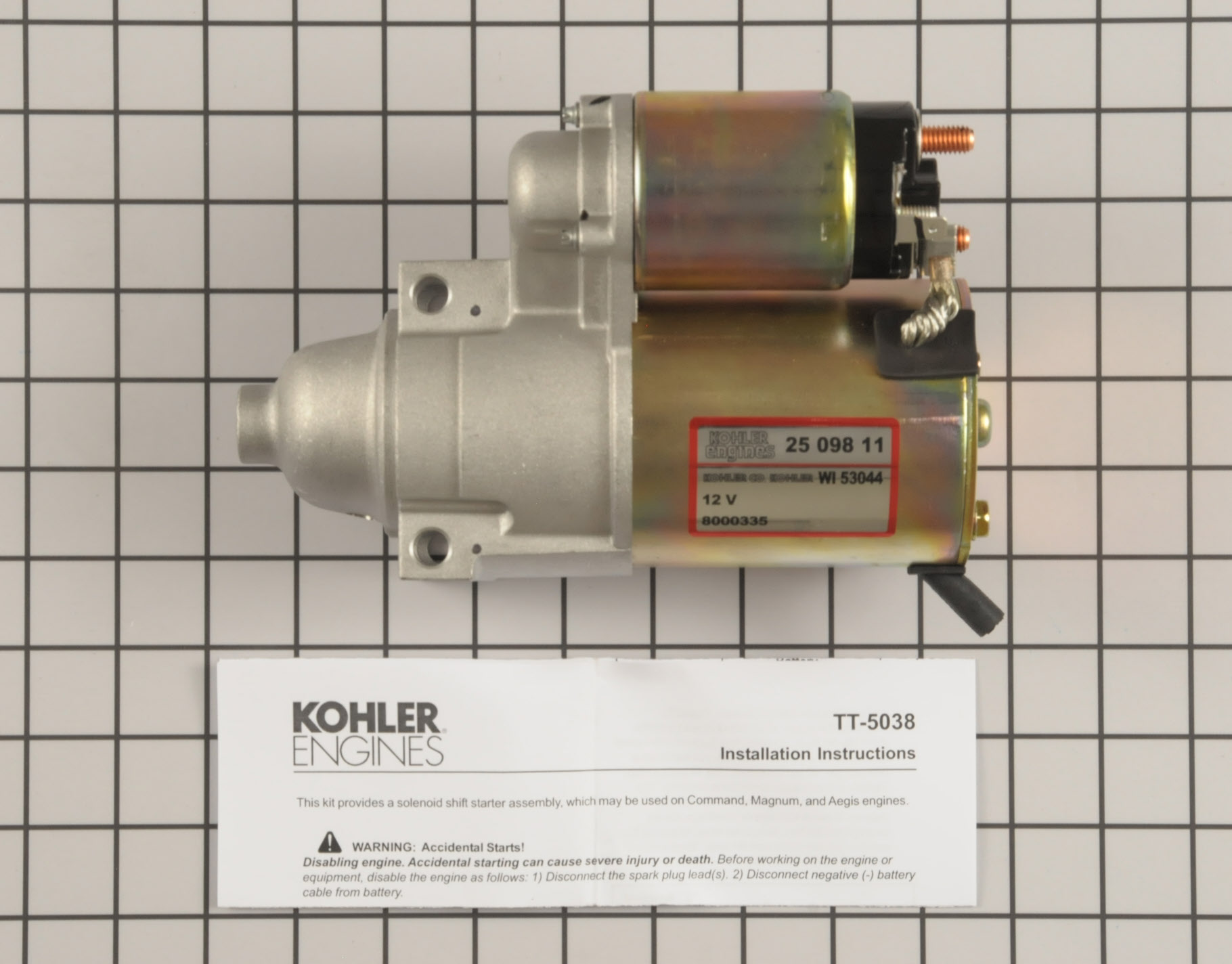 Exmark Lawn Mower Part # 25 098 21-S - Electric Starter photo