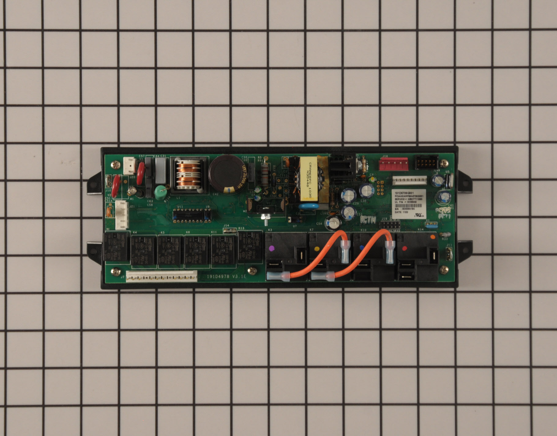 GE Range/Stove/Oven Part # WB27T11085 - Relay Board