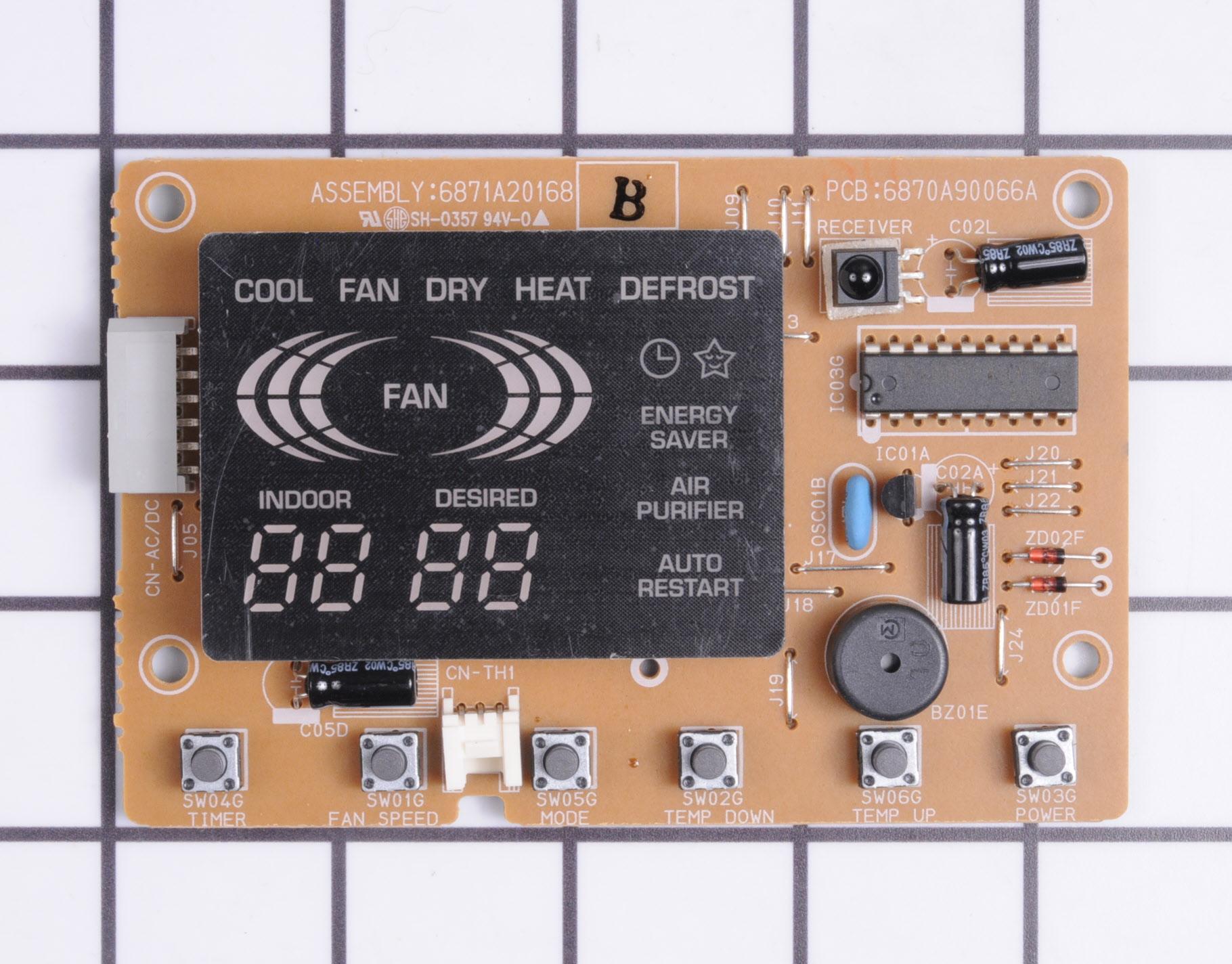Kenmore Air Conditioner Part # 6871A20168B - Main Control Board
