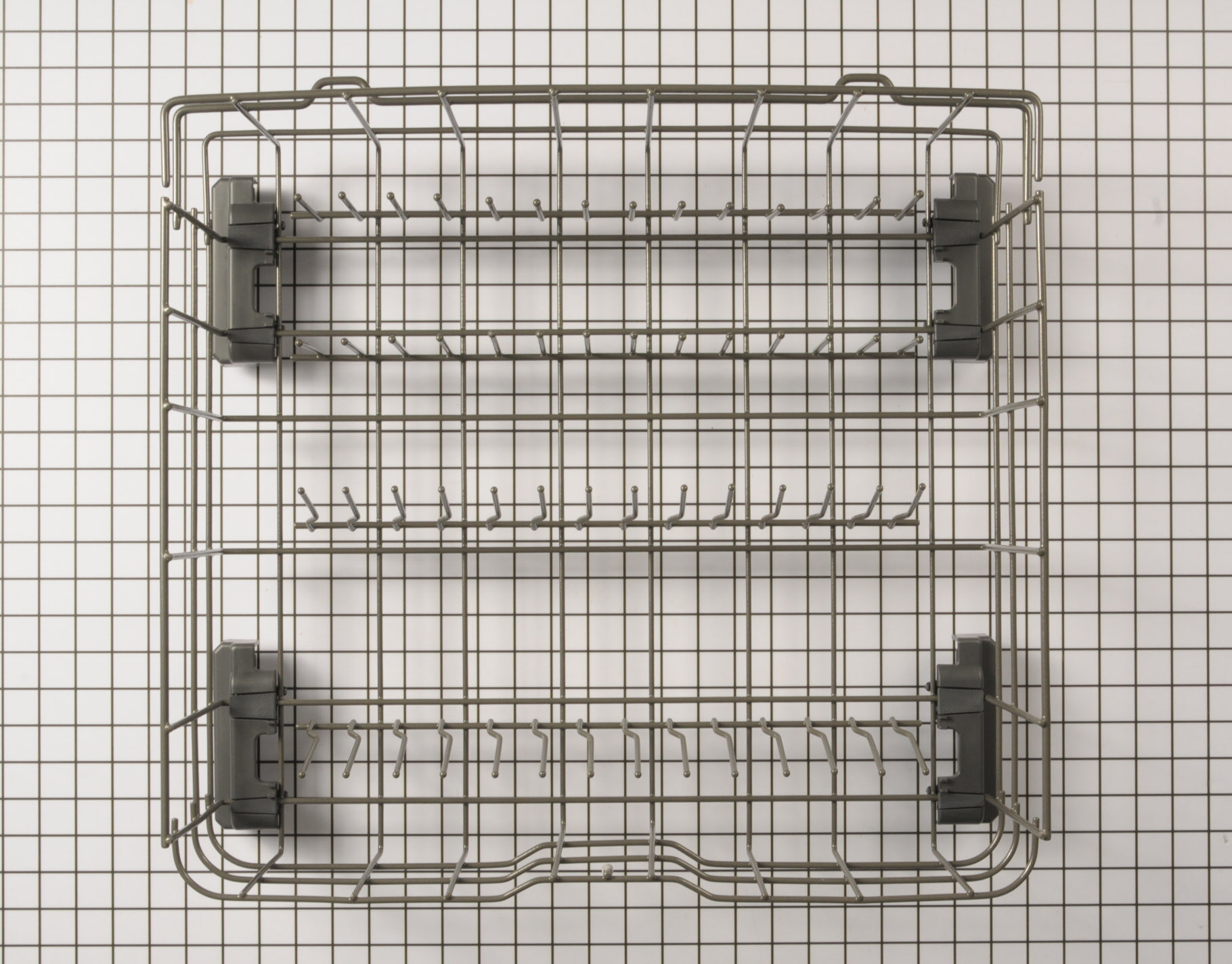 GE Dishwasher Part # WD28X25958 - Lower Dishrack Assembly