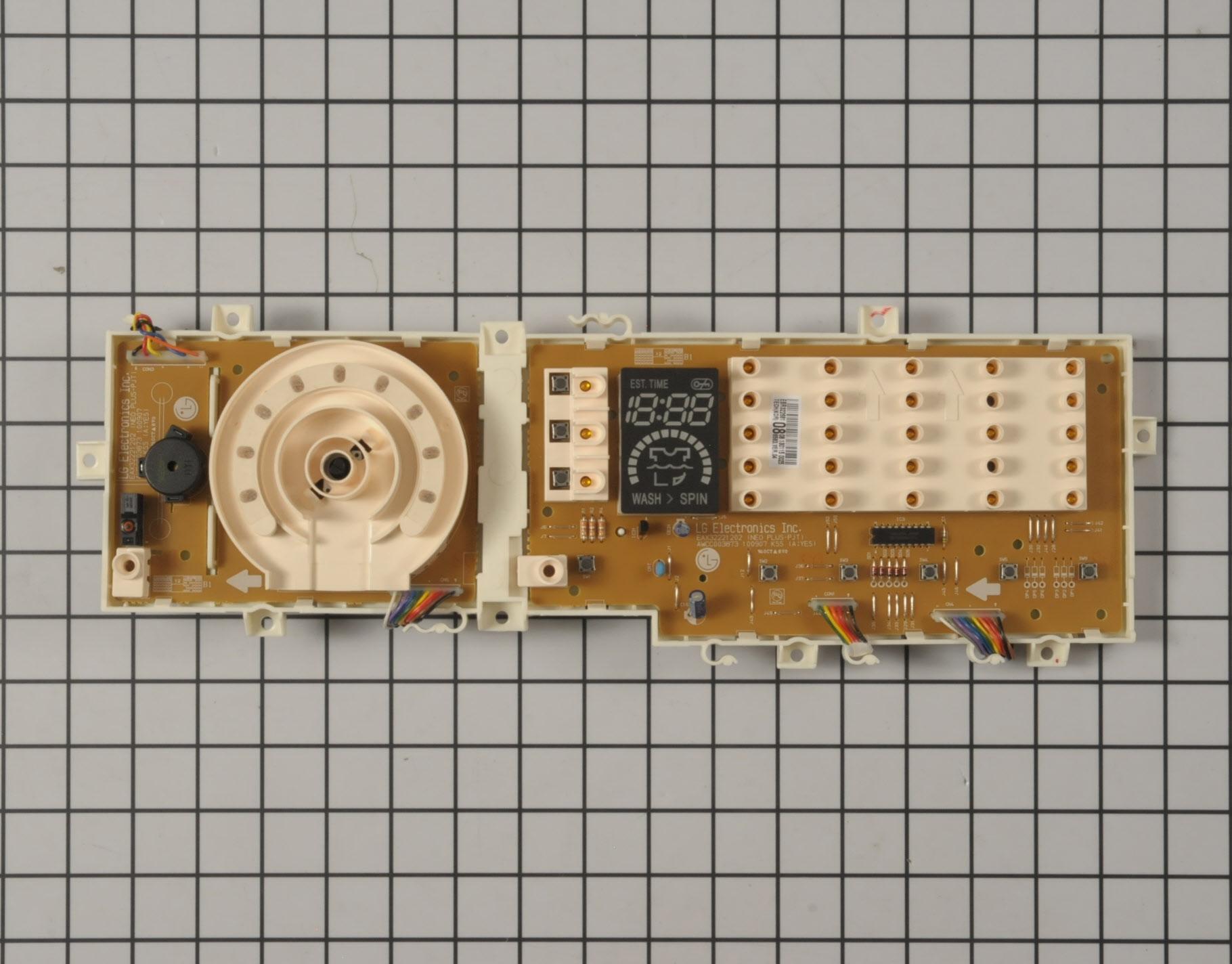 LG Washing Machine Part # EBR32268108 - User Control and Display Board
