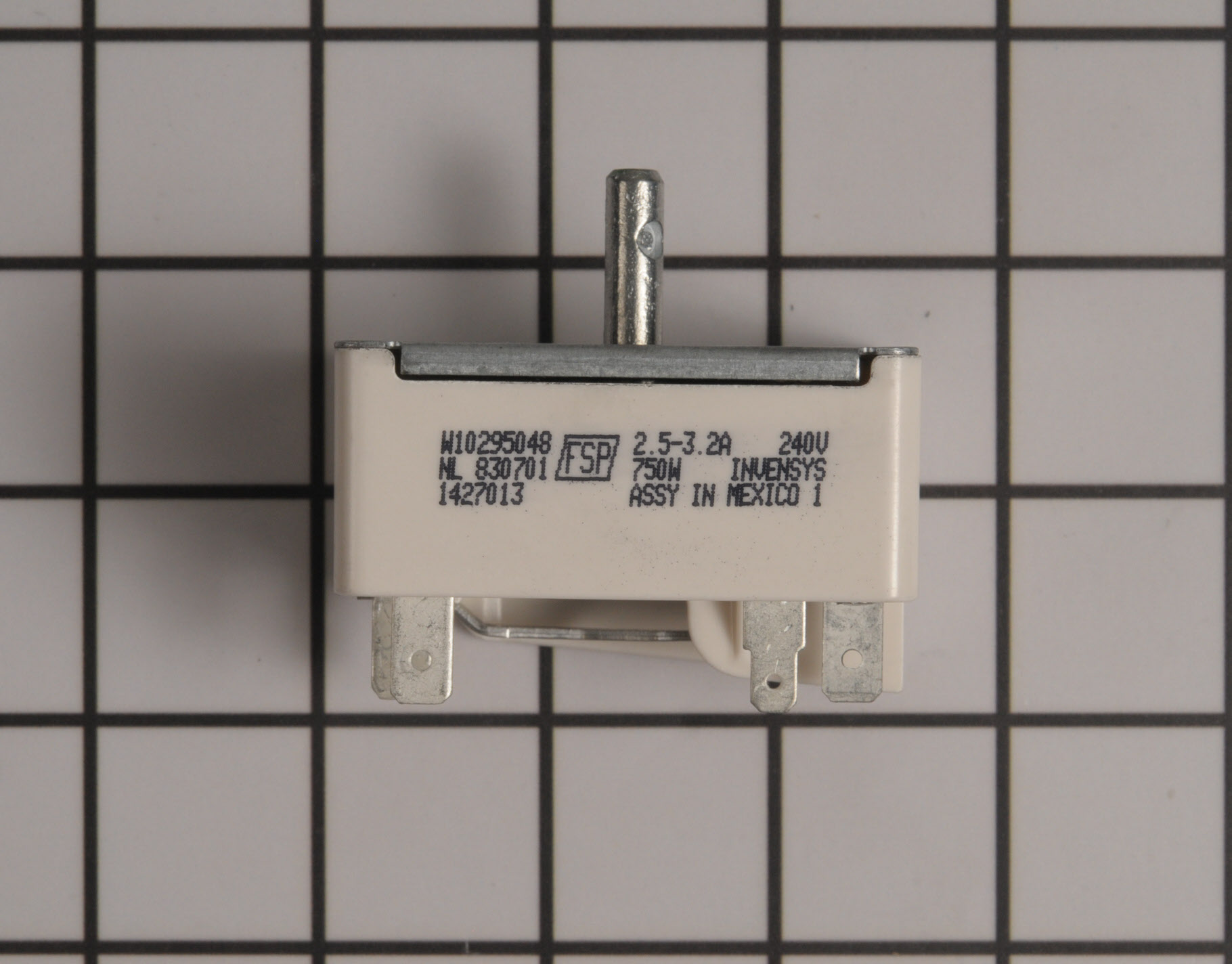 Whirlpool Range/Stove/Oven Part # WPW10295048 - Surface Element Switch